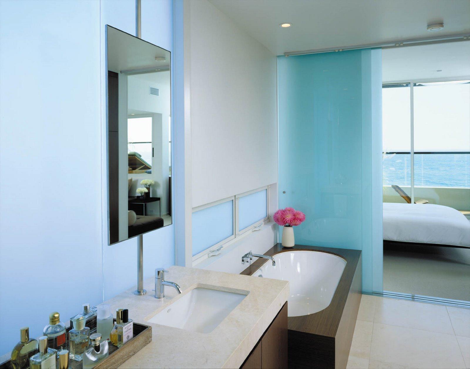 Delikatne barwy łazienki