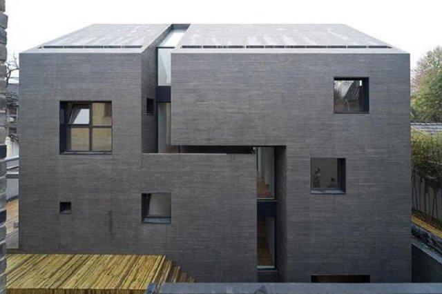 betonowy dom - ściana boczna