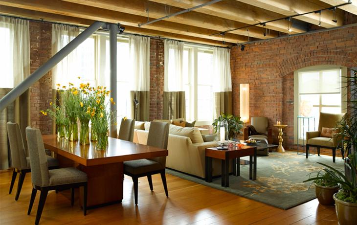 klasyczny loft ceglany