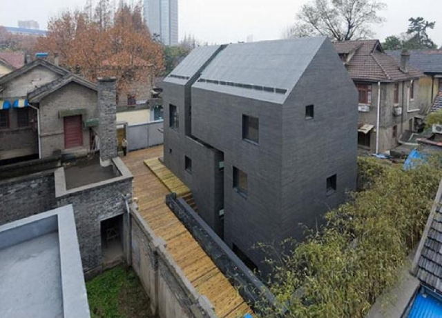 betonowy dom