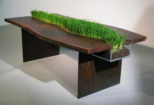 zielony stół wiosenny