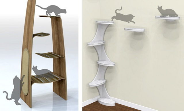 wieże dla kotów - via webecoist.com