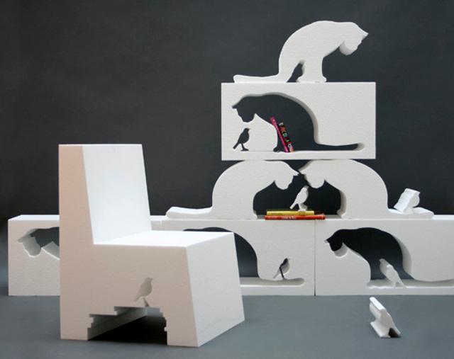 meble z kocim motywem - via babygadget.net