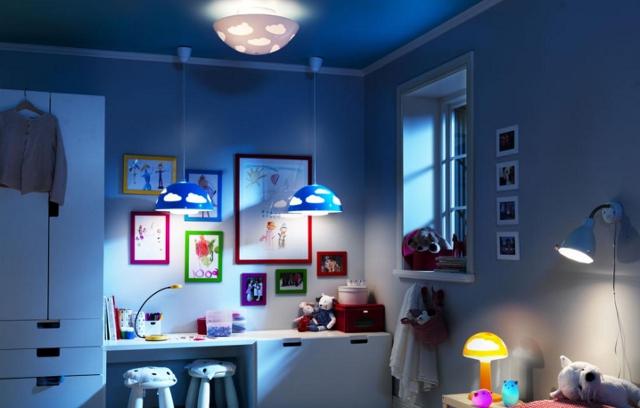 światło w pokoju dziecięcym - fot. IKEA
