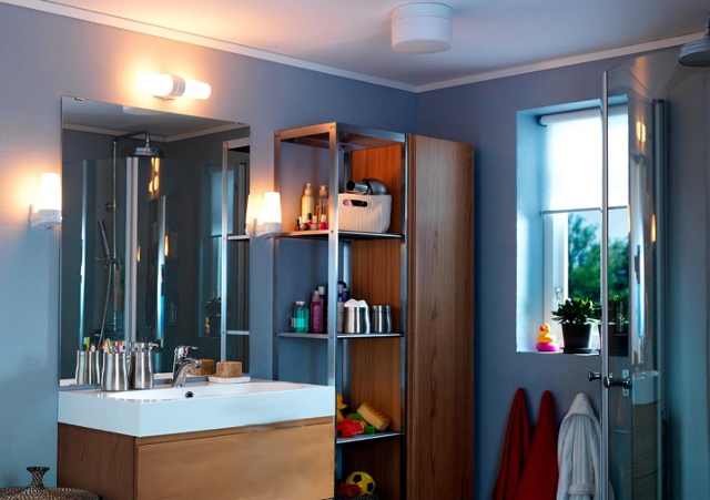 Oświetlenie łazienki Fot Ikea Dekornictwopl Otaczaj