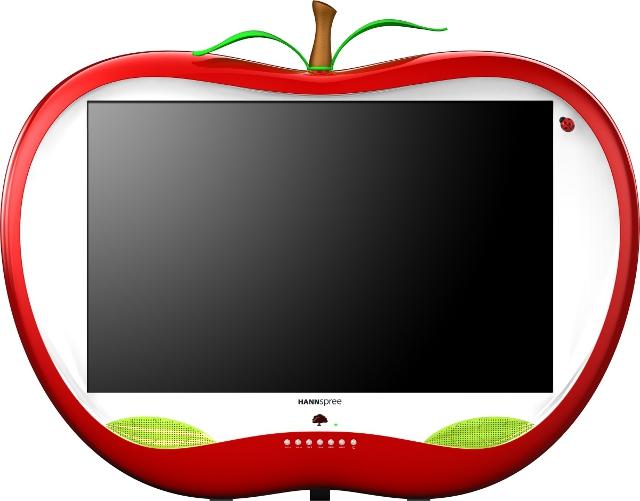 jabłkowy telewizor od Hannspree