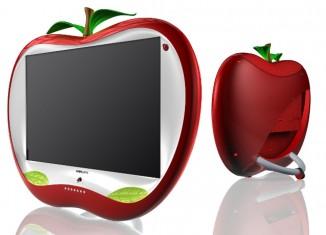 jabłkowy tv - front i tył