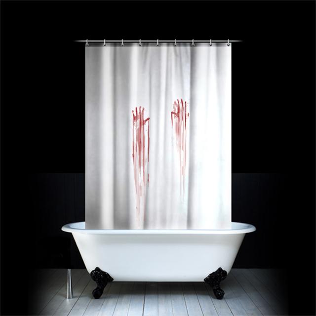 krwawa zasłona prysznicowa dostępna na spinninghat.com