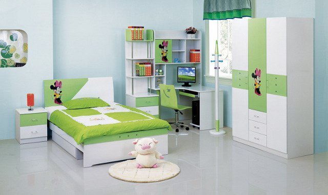 zielony pokoik dla dzieci