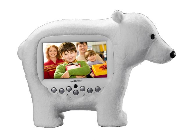 niedźwiedź polarny - ramka cyfrowa od HANNspree