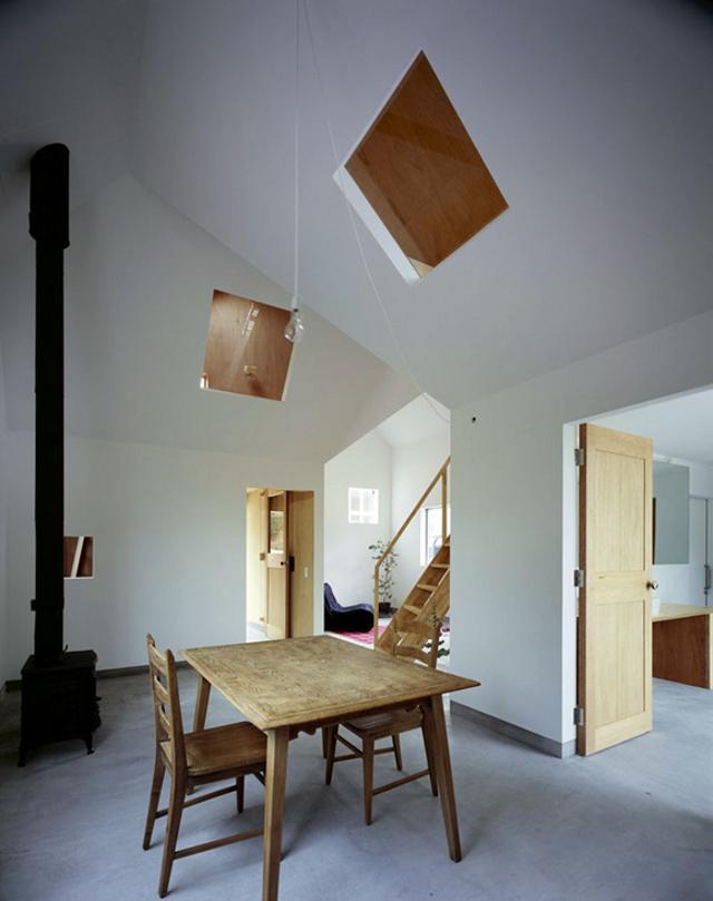 nietypowe świetliki dachowe - fot. You Shimada/Tato Architects