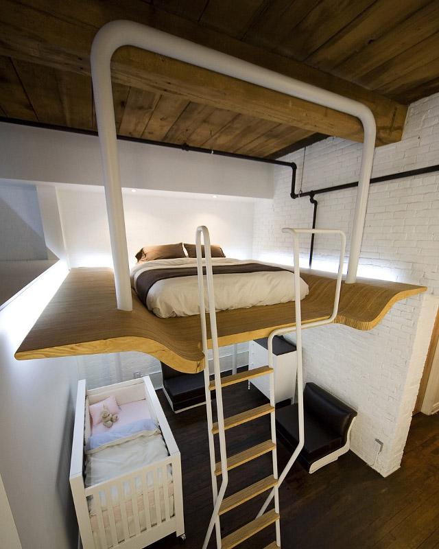 pokój dziecięcy w lofcie - fot. Steve Montpetit