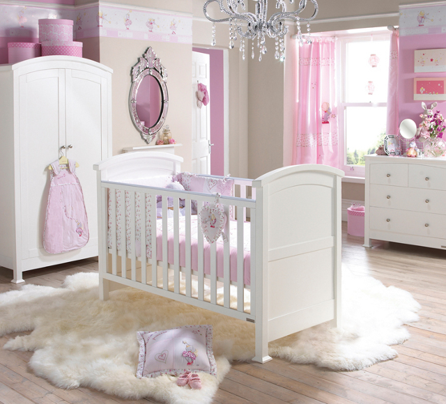 różowy pokój dziecięci fot. via modern-luxury-interior-design.blogspot.com