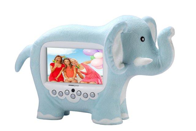 ramka cyfrowa - słoń fot. HANNspree
