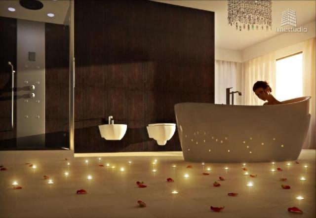 romantyczna łazienka by LimeStudio