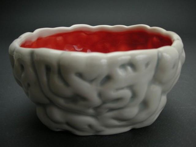 salaterka w kształcie mózgu od Folded Pig