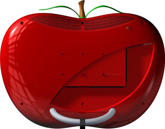 soczysta jak jabłko obudowa telewizora Hannspree