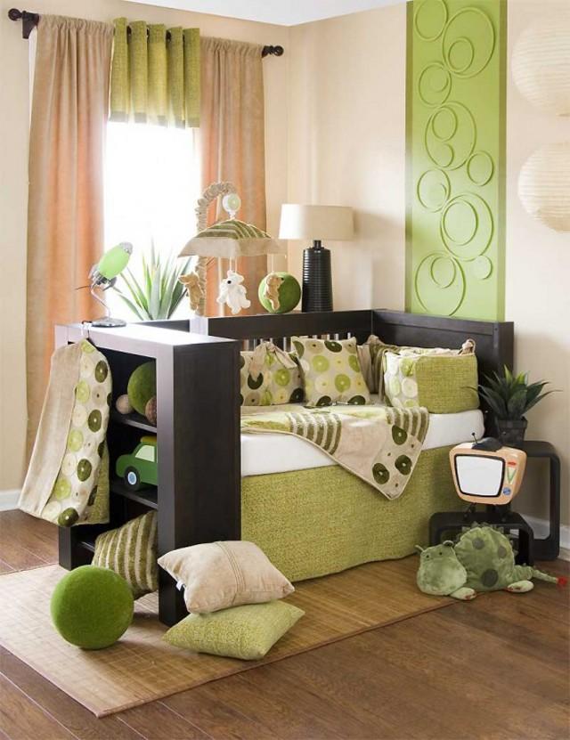 zielony pokój dziecinny