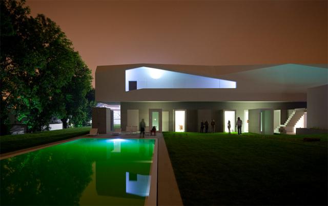 Casa Fez zmienia się nie do poznania pod wpływem świateł - fot. Fernando Guerra