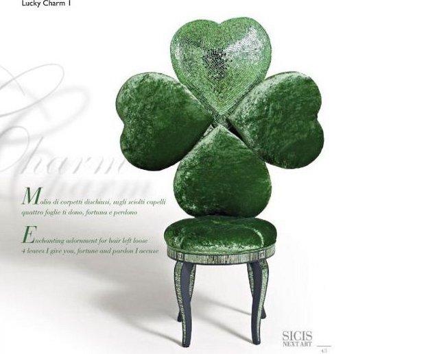 Krzesło-koniczynka zaprojektowane przez designerkę - Carlę Tolomeo (via www.sicis.it)