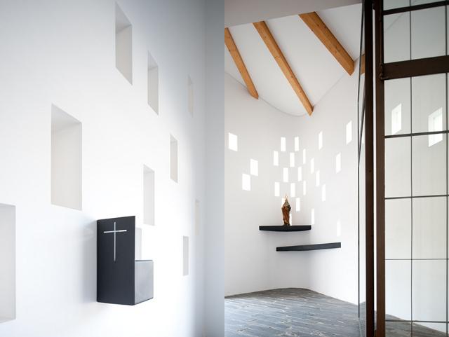 Nowoczesna architektura nie omija kościołów (Santa Ana's Chapel, e|348 arquitectura) - fot. Fernando Guerra