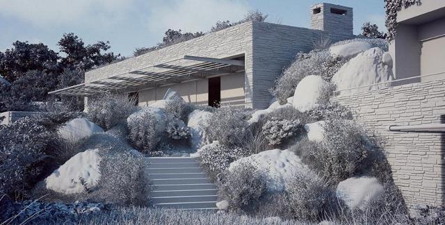 Posiadłosć Terra Porra w zimowej aurze - fot. Studio Aiko