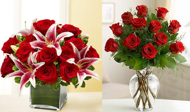 czerwone róże od flowers.com