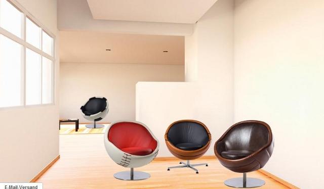 fotele w kształcie piłek do gier od Paolo Lillus