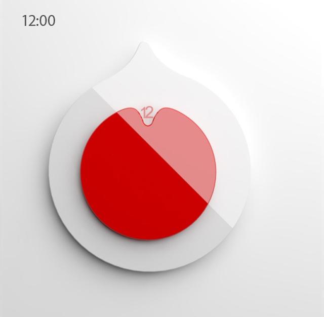 Japoński Zegar od Anny Marinenko - 12:00