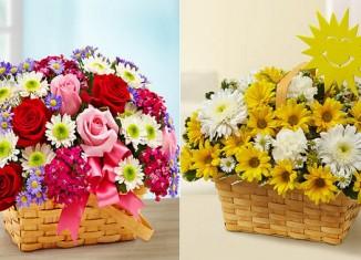 kosz miłości i kosz pełen słońca od flowers.com