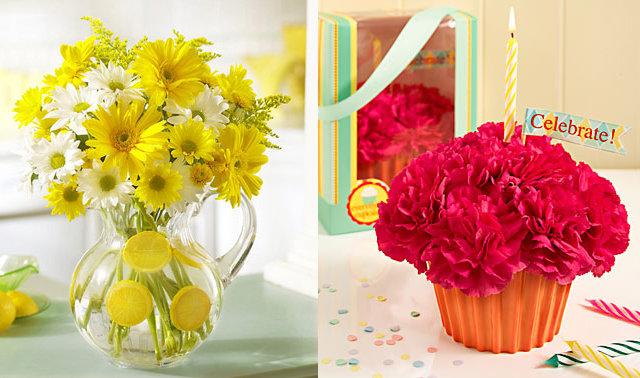 kwiatowa babeczka i kwiecista lemoniada - flowers.com