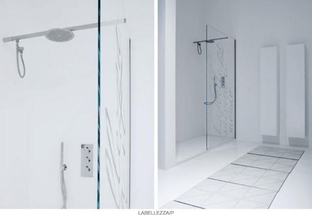 przesłony prysznicowe z motywem pograficznym -fot. Antonio Lupi