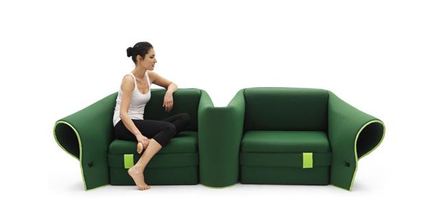 Funkcja dwóch foteli - sofa Sosia od Campeggi