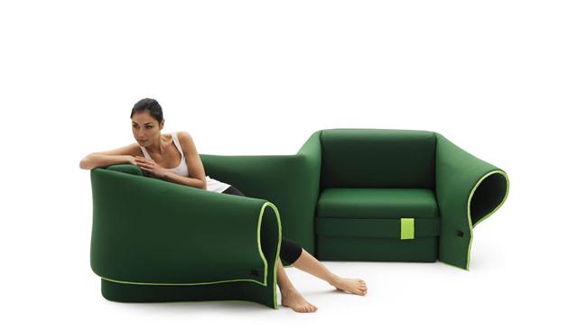 Funkcja narożnika - sofa Sosia od Campeggi