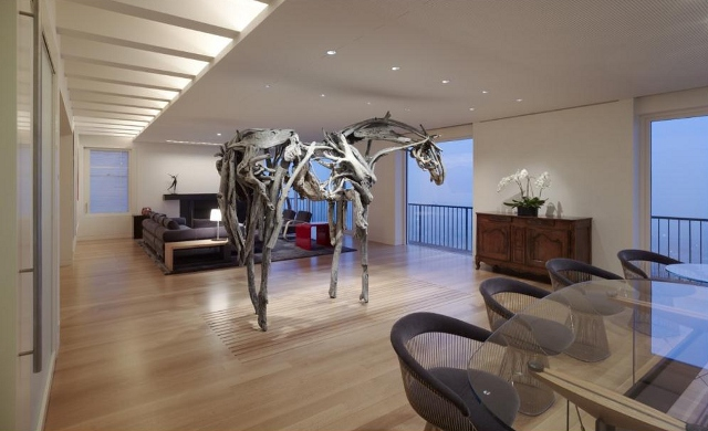 salon - Pacific Heights Residence by Richard Meier & Partners Architects
