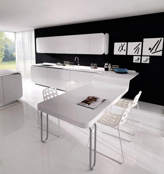 Białe szafki kuchenne IT-IS od Euromobil