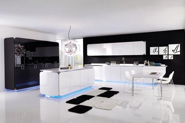 Biało-czarna kuchnia IT-IS od Euromobil