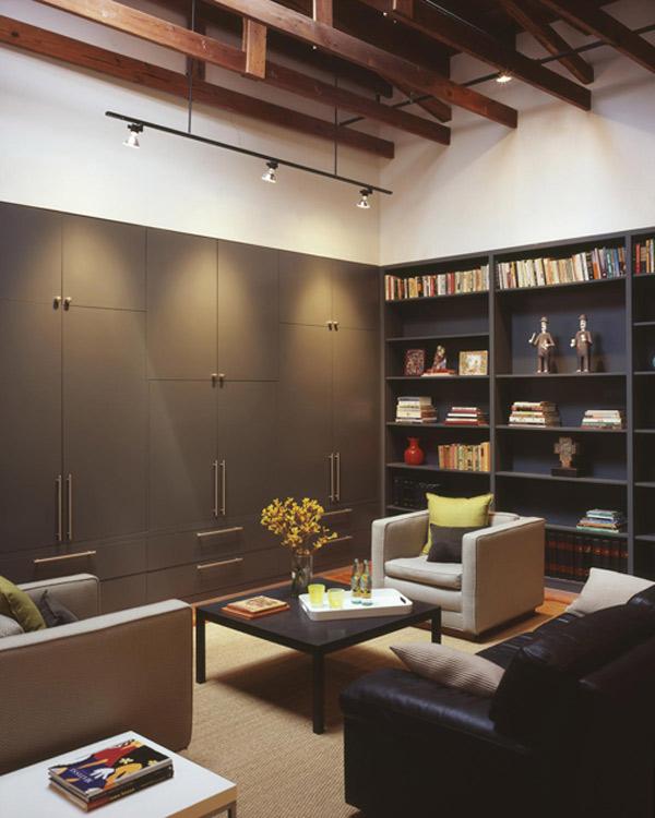 Biblioteka - Loft według Poteet Architects