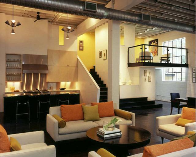 Kuchnia - Loft według Poteet Architects