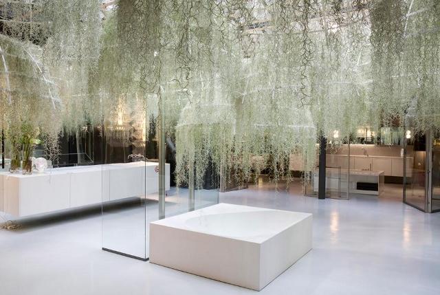 Las Deszczowy w salonie kąpielowym - Rainforest od Boffi