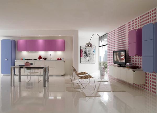 Pastelowa kuchnia IT-IS od Euromobil