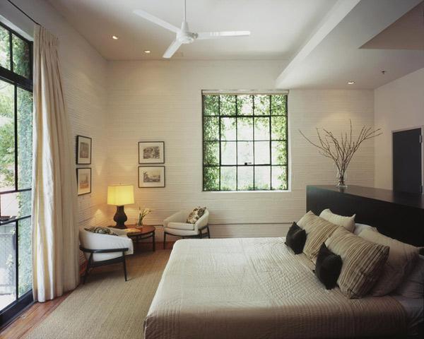 Sypialnia - Loft według Poteet Architects