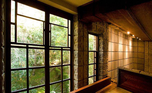 Widok na zieleń z okien domostwa- design by Frank Lloyd Wright