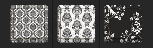 czrno-białe włączniki od Aly Store