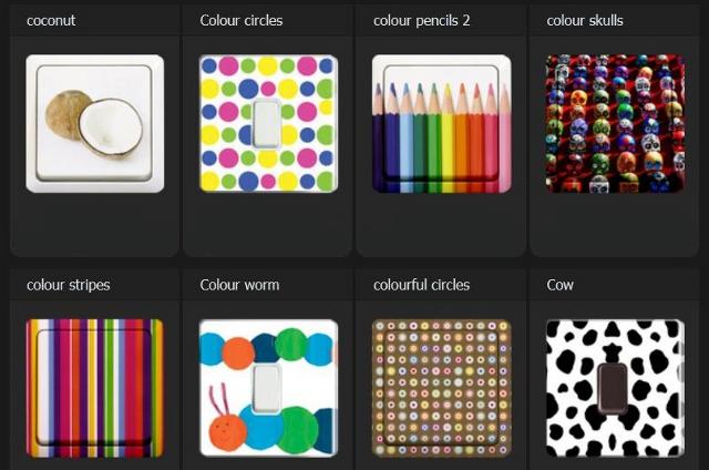 kolorowe włączniki światła od Aly Store