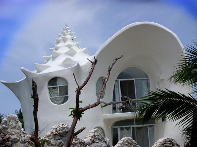 Dom w kształcie muszli (fot. Mark Stadnik)