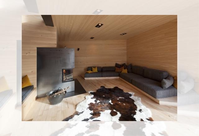 drewniany salon (Ferienhaus Girardi by Philip Lutz)