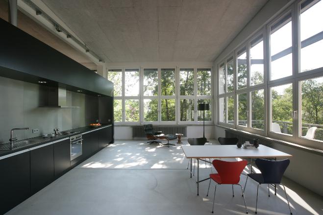 Płyty akustyczne w lofcie w Metzingen-Schwol
